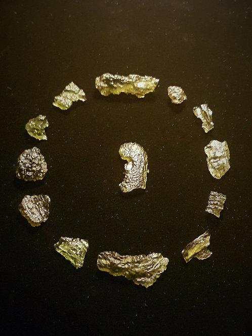 Moldavite x 13 C, B 12g