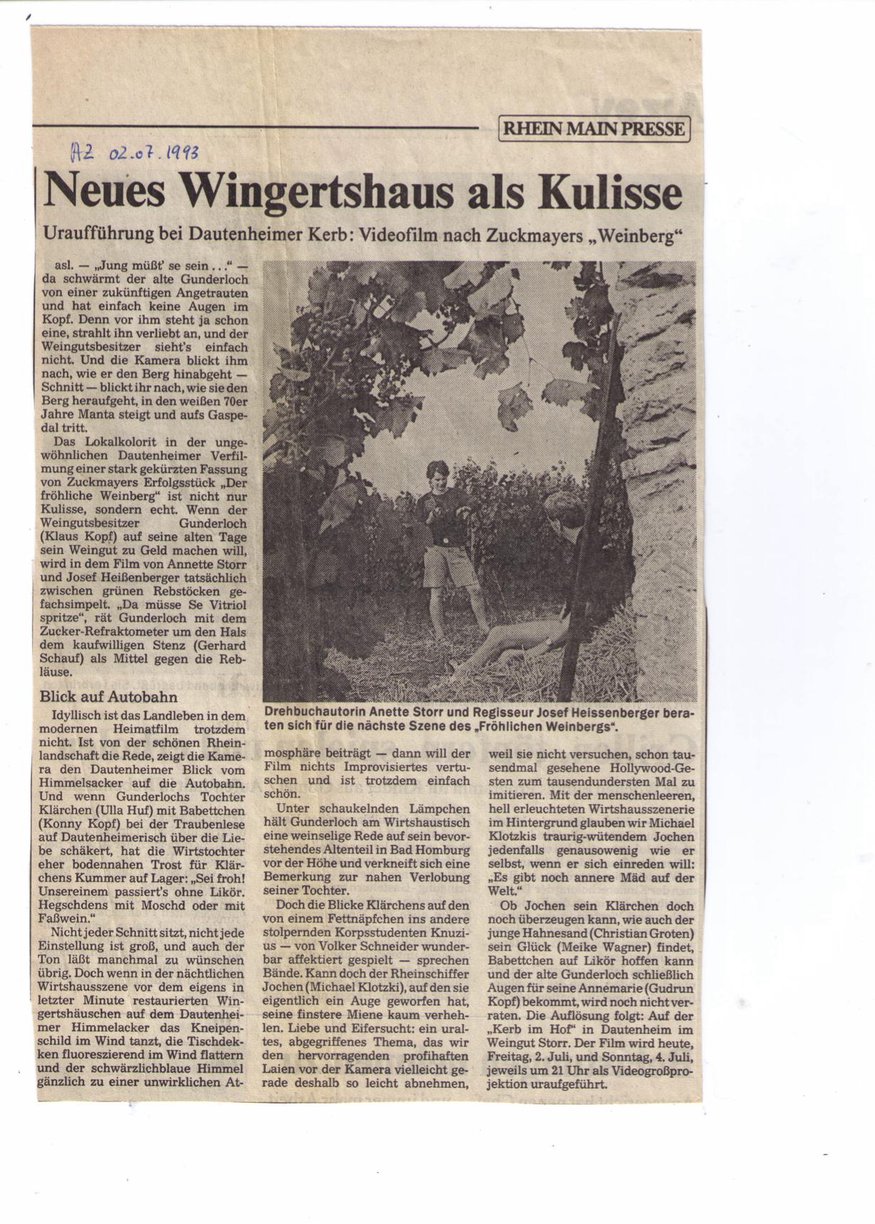 froehlicher weinberg.kritik