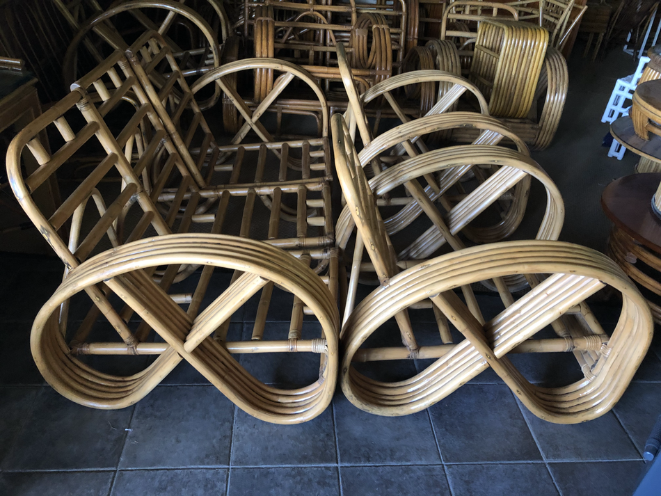 collection of matching pretzel chairs