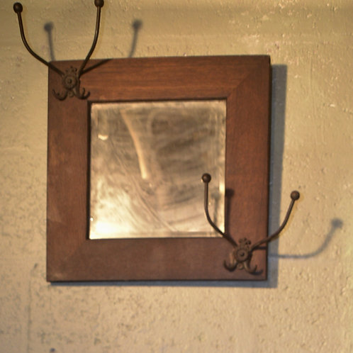 1 Small arts+crafts mirror w/ hooks
