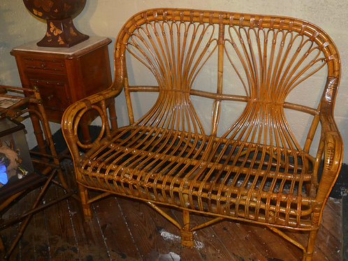 Rattan and Reed Sofa in excellent condition came as set with pair of chairs
