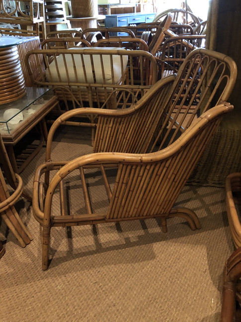 single rattan club chair