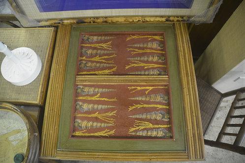 SEAWEED AND SHELLS Decoupaged Backgammon Table