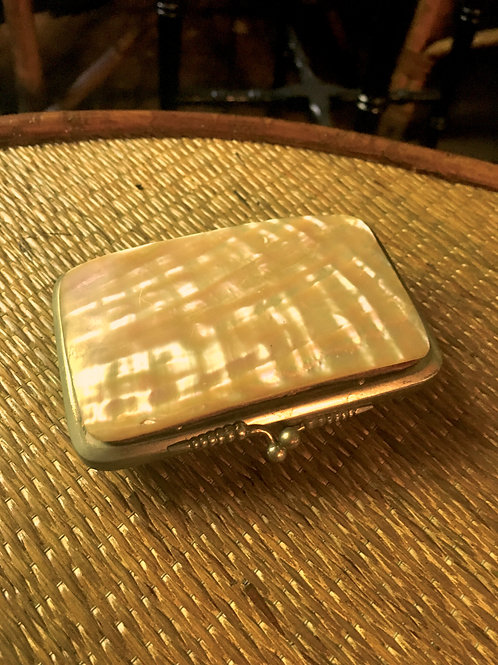 Antique victorian mother of pearl purse. mother of pearl is loose