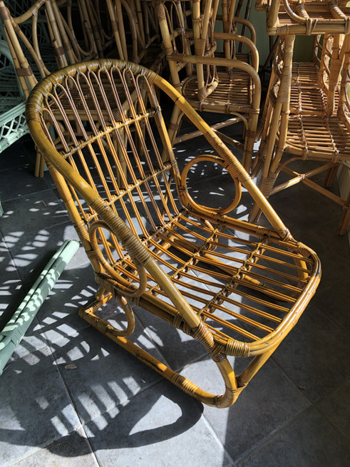 rare single rattan chair