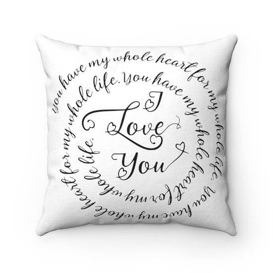 I love You Farmhouse Pillow, Pillow with Quote and Sayings