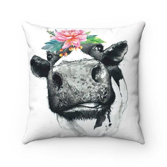 Marvelous Moo Cow Throw Pillow, Funny Farmhouse Pillows