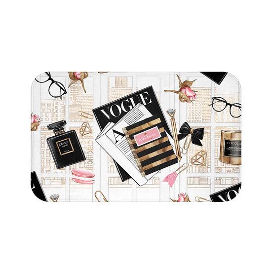 Bath Mat, Fashion, Fashion Illustration, Fashionista Bathroom Decor