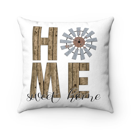 Farmhouse Pillow, Home Sweet Home Windmill, Modern Farmhouse Pillow