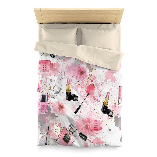 Duvet, Fashion Illustration Duvet, Makeup, Microfiber Duvet Bedding Cover