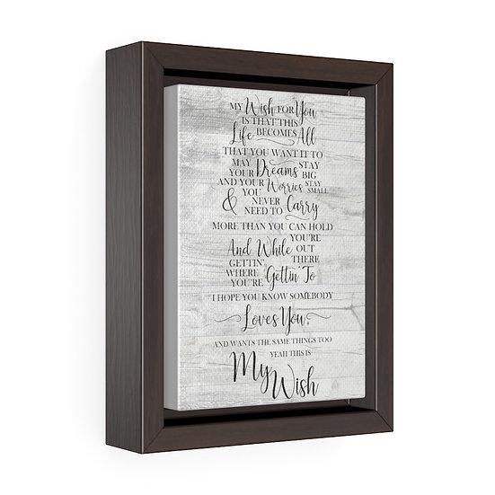Canvas Print, My Wish, Rascal Flatts Song Lyrics, Personalized Wedding Canvas