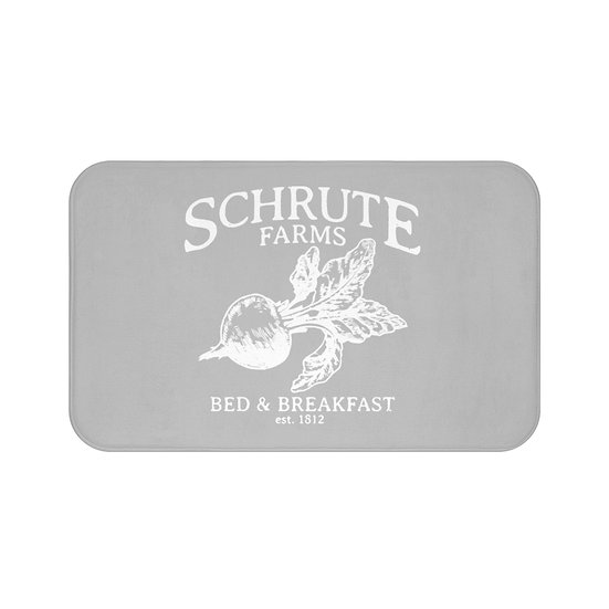 Bath Mat, Schrute The Office, Funny Bath Room Accessories, Grey Rugs and Mats