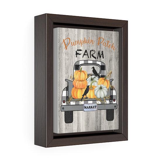 Canvas Print, Pumpkin Farm Truck Wall Hanging, Kitchen Wall Art, Vertical Framed