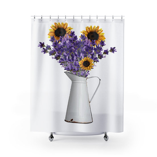 Floral Shower Curtain,  Liner, Bathroom Shower, Bathroom Decor
