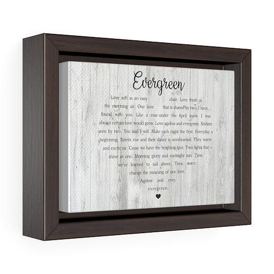 Personalized Song Lyrics Canvas Print, Evergreen Song Lyrics Canvas Wall Art