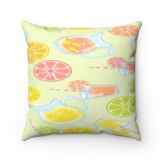 Lemon Pillow, Lemon Decor, Farmhouse Pillows, Fruit Pillow, Citrus Pillow