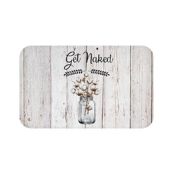 Bath Mat, Mason Jar of Cotton, Get Naked Bath Room Accessories, Rugs and Mats