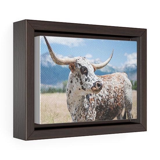 Canvas Print, Texas Longhorn Canvas, Rustic Ranch Canvas Print