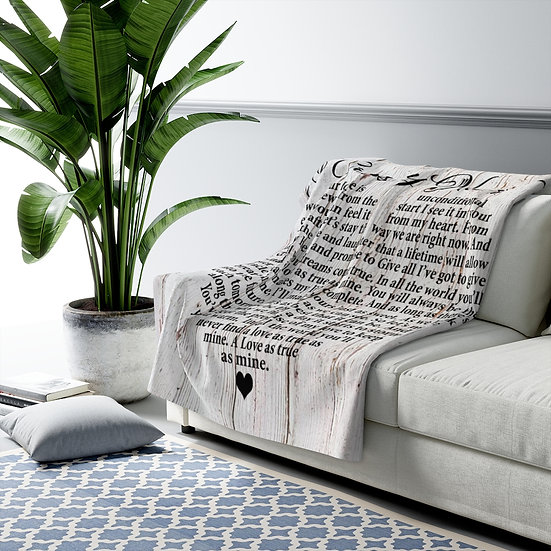 Blanket, I Cross My Heart Song Lyric Personalized Farmhouse Throw
