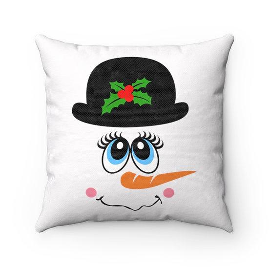 Christmas Pillow, Frosty Snowman Pillow, Farmhouse Christmas Pillow
