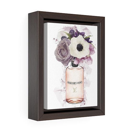 Canvas Print, Fashion Illustration art, Girl Boss Canvas print, Floral Perfume