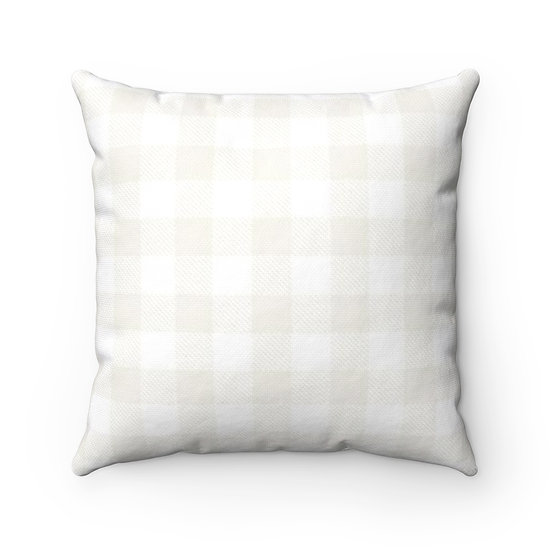 Light Checkered Plaid Throw Pillow