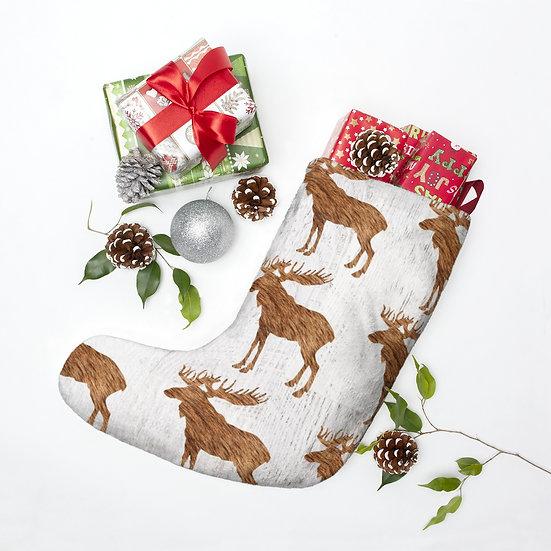 Woodland Moose Christmas Stockings