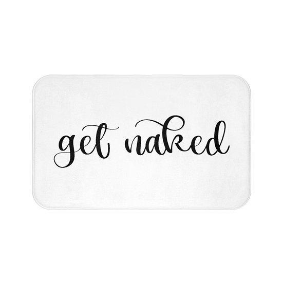 Get Naked Bath Mat, Funny Bathroom Accessories, Non Slip Mat