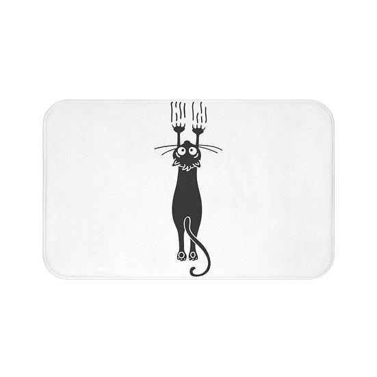 Hanging Cat Bath Mat, Cat Lover Bathroom Accessories, Funny Bath Mat