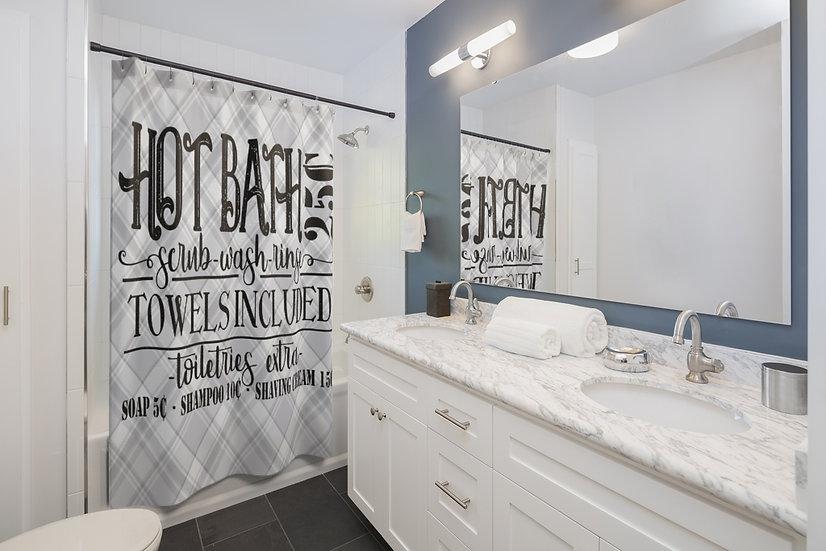Hot Bath Shower Curtian