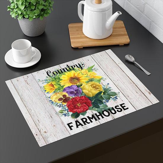 Placemat, Farmhouse Placemat, Floral Table Placemats, Kitchen Decor, Country