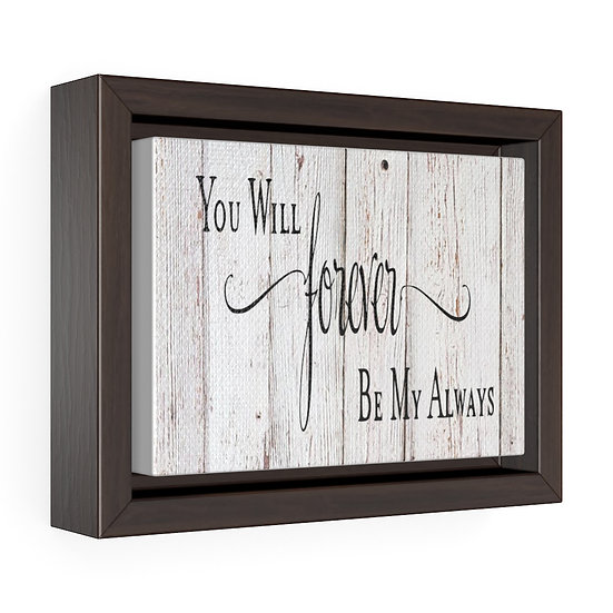 Forever My Always Master Bedroom Sign, Faux Wood Canvas Print, Bedroom Wall