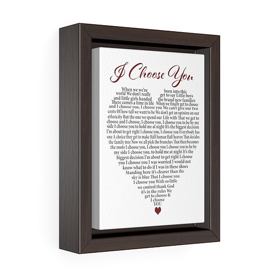 Canvas Print, I Choose You Personalized Wedding Canvas
