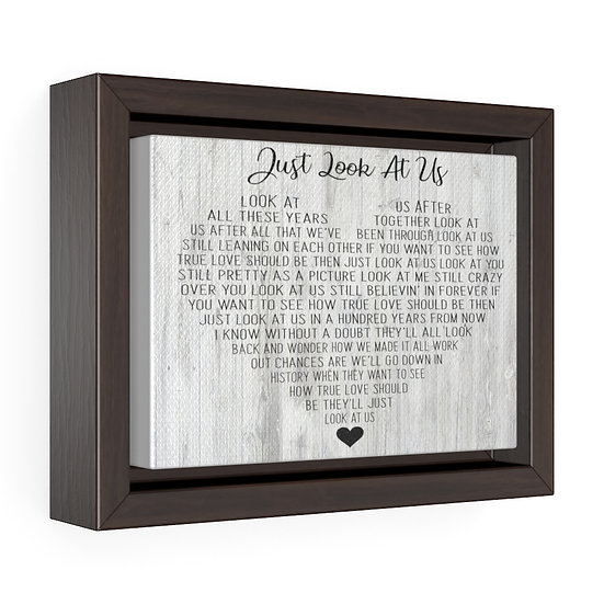 Personalized Canvas Print, Just Look At Us Framed Wrap Canvas, Wedding Gift