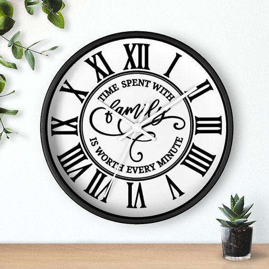 Time Spent with Family Wall Clock, Clocks Kitchen, Housewarming Wall Clock