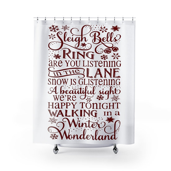 Winter Wonderland Christmas Shower Curtain