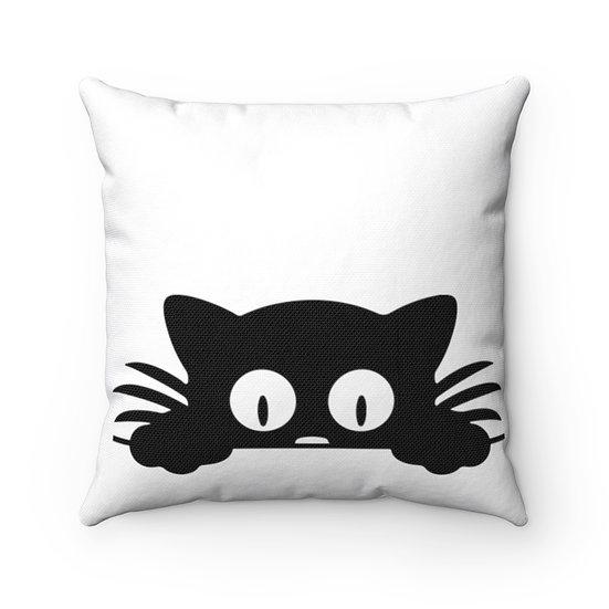 Peek a Boo Cat Pillow, Cat Lover Gift, Cat Lover Pillow