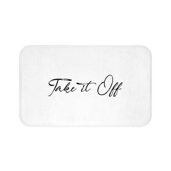Funny Bath Mat, Take it Off Non Slip Mat, Bathroom Accessories