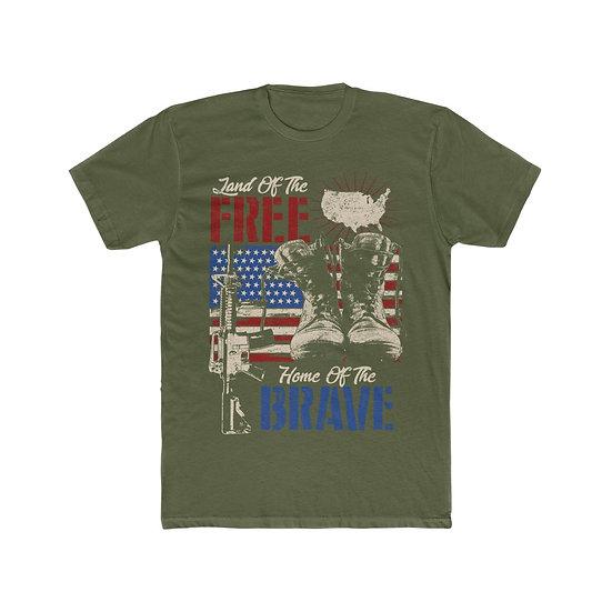 Land of the Free Men's Cotton Crew Tee