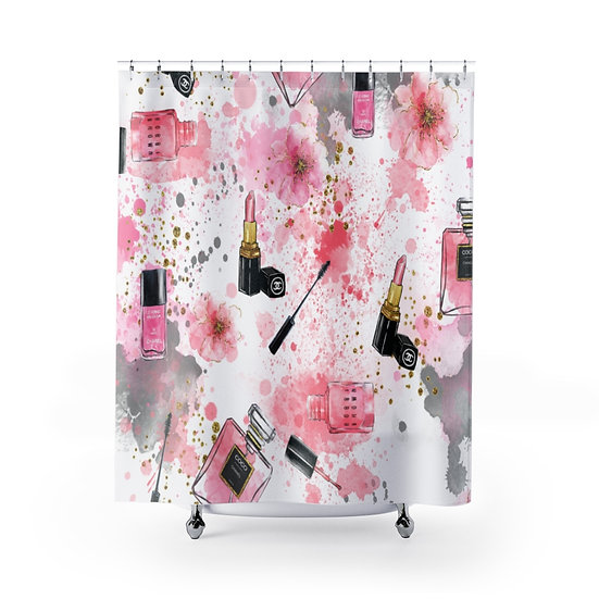 Shower Curtain,  Pink Fashion illustration, Fashionista Shower Curtain