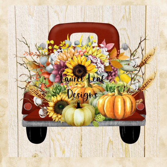 Farmhouse Fall Red Truck Png File, Autumn Svg file, Farmhouse digital download