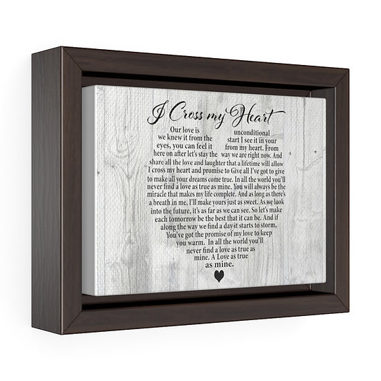Canvas Print, I Cross My Heart Song Lyric Personalized Wedding Canvas