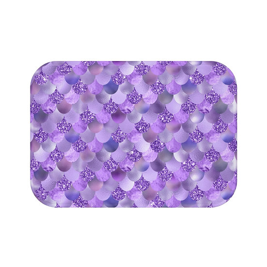 Purple Mermaid Fashion Bath Mat, Purple Fashionista Bath Mat