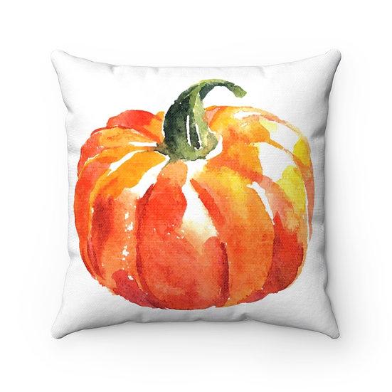 Pumpkin Farmhouse Pillow, Fall Home Decor, Fall Pumpkin Pillow