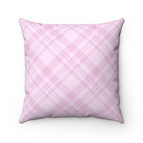 Pink Plaid Pillow, Throw Pillows, Plaid Pillows, Farmhouse Pillows
