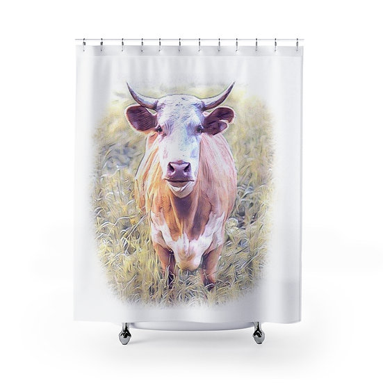 Shower Curtain, Cow Shower Curtains, Farm Fabric Liner, Funny Bathroom Decor