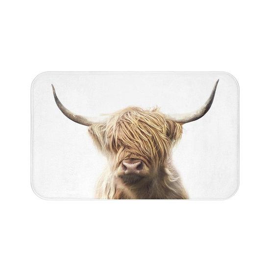 Highland Cow Bath Mat, Cow Rugs and Mats, Rustic Ranch Bathroom Decor