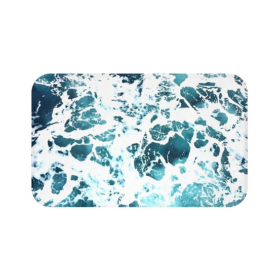 Ocean Bath Mat, Aqua Bathroom Accessories, Non Slip Mat