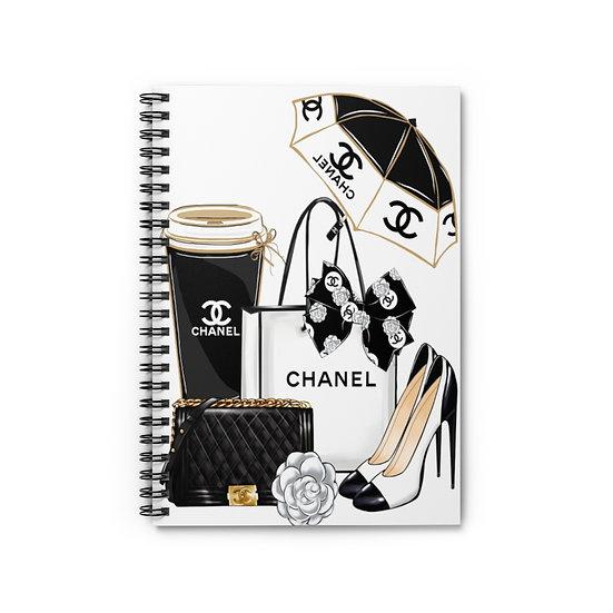 Spiral Notebook, Heels Fashion Spiral Notebook, Fashion Girl Notebook, Designer