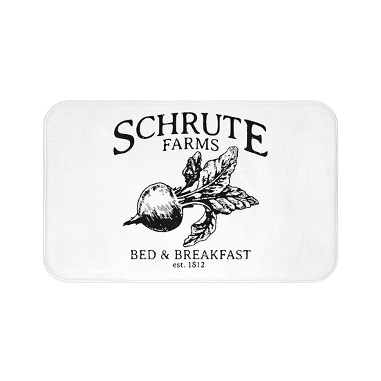 Bath Mat, Schrute The Office, Funny Bath Room Accessories, Rugs and Mats